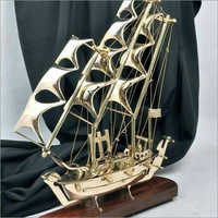 Antique Brass Ship