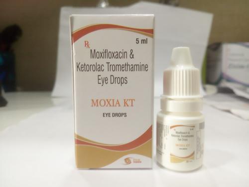 Moxifloxacin  0.5%W/V + Ketorlac 0.5%W/V