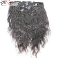 Best Price Unprocessed Remy human Hair Clip Hair Extension