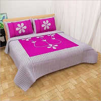 Floral Print Cotton Bed sheet