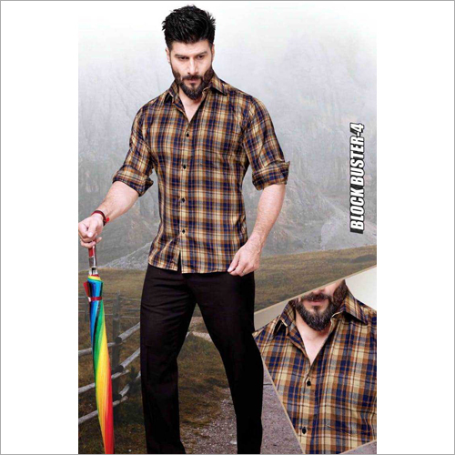 Mens Check fancy Shirt Fabric
