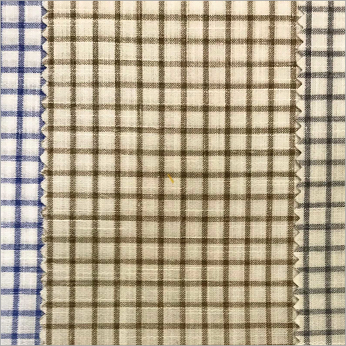 Mens Soft Cotton Check Shirt Fabric