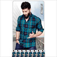 Men Casual Wear Check Shirt Fabric