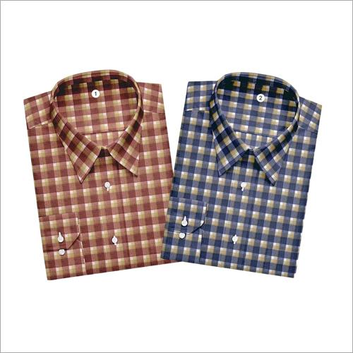 Mens Small Check Shirt Fabric
