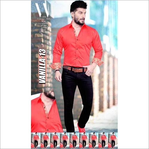 Mens Full Sleeves Plain Shirt Fabric