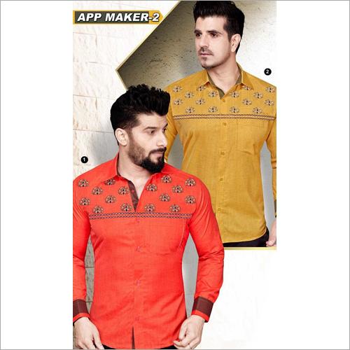 Men's Printed Shirt Fabric