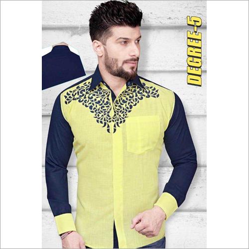 Mens Full Sleeves Printed Shirt Fabric