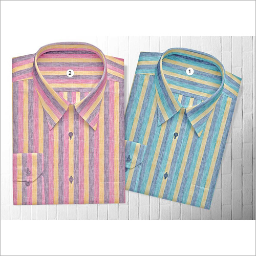 Mens Striped Woven Shirt Fabric