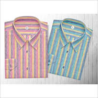 Men's Striped Woven Shirt Fabric