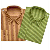 Men's Striped Synthetic Shirt Fabric