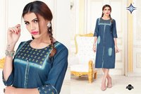 Fancy Denim Kurtis