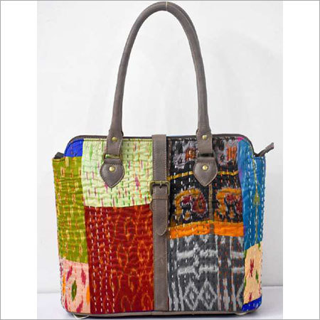 KANTHA HANDMADE FABRIC BAG