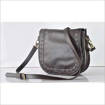 GENUINE LEATHER SADDLE BAG