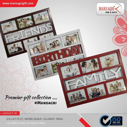 Decorative plastic photo frame