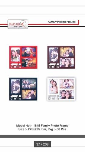 Decorative plastic photo frame