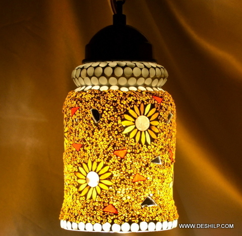DECORATIVE GLASS MOSAIC LAMP