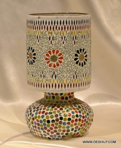 DECORATIVE GLASS MOSAIC LAMP