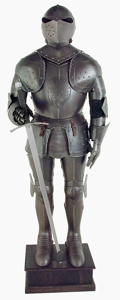 Black Knight Suit Of Armor Full Size Aged Antiqued