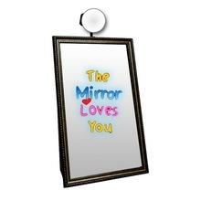 Animated Black Big Selfie Booth Magic Mirror
