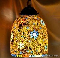 MOSAIC GLASS DECOR HANDICRAFT  WALL HANGING LAMP