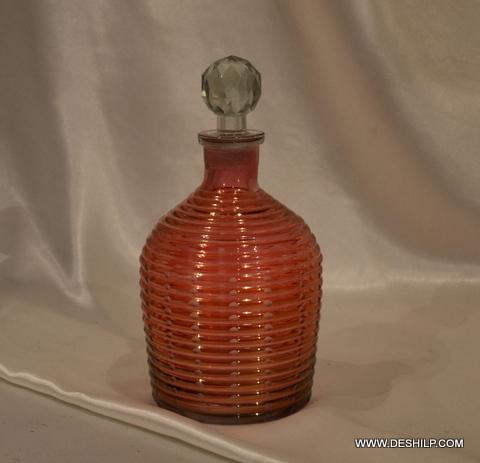HANDICRAFT DECOR GLASS PERFUME BOTTLE