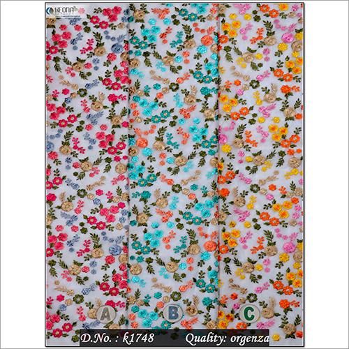 Organza Embroidery Fabric