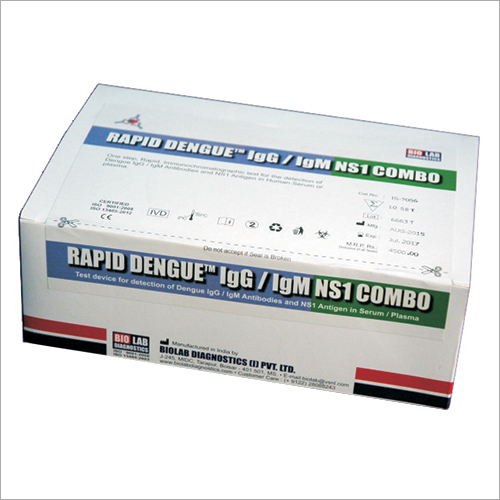 Rapid Dengue Combo Test Kit (IgG/IgM + NS1)