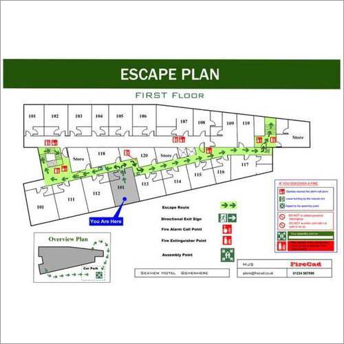 Fire Evacuation Plan Signs