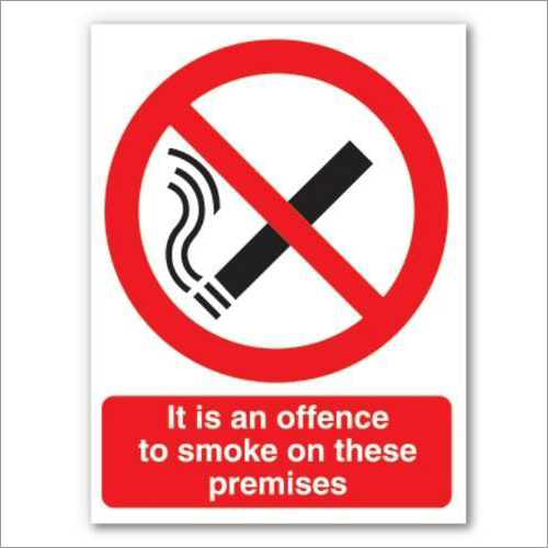 No Smoking Signages
