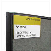 Cubicle Name Plates