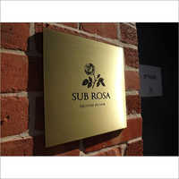 Etched Brass Signages