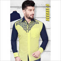 Men's Full Sleeves Printed Shirt Fabric