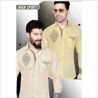 Men's Linen Printed Shirt Fabric