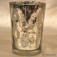 SMALL SILVER FINISH CANDLE HOLDER