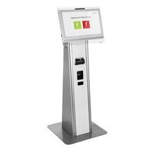 17 inch Bank Touch screen visitor management kiosk