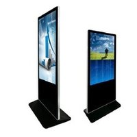 55 inch indoor double side dual screen ad display screen sign digital signage kiosk stand alone