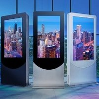 Customize Capacitive Touch Screen Panel Monitor Wall Mounted Advertising Display Kiosk