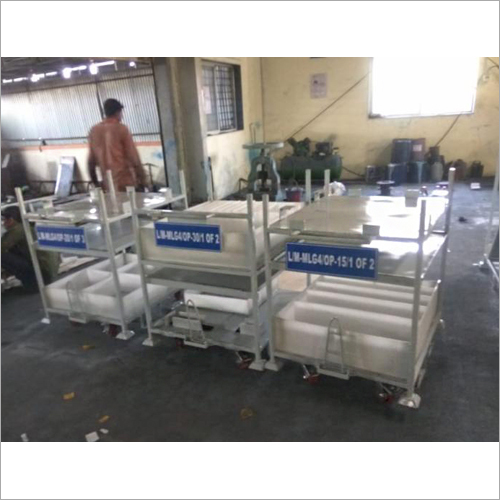 Industrial Folding Storage Pallets Trolley