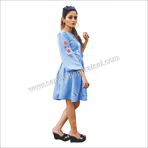 Ladies Denim Blue Top