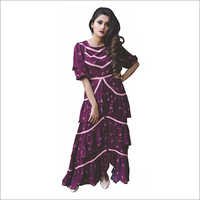 Women Wine Beeding Dress