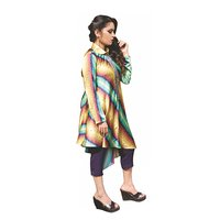 Multi Color Tunic With Pants