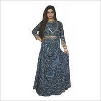 Designer Sequins Drape Anarkali