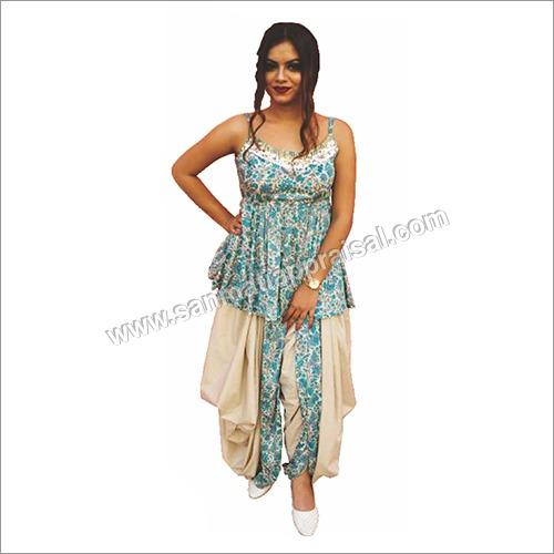Ladies Coloured Dhoti Suit