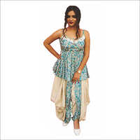 Ladies Coloured Dhoti Suit