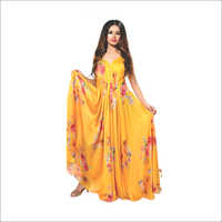 Yellow Floral Gown