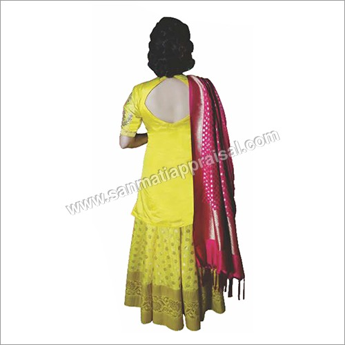 Yellow Sharara With Banarasi Duppatta