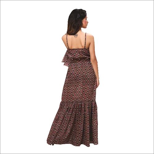 Ladies Printed Embroidery Full Dress