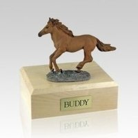 Running Medium Horse Cremation Urn