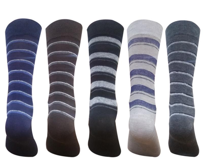 Men's Cotton Calf Length Formal Socks