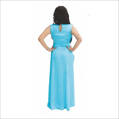 Sky Blue Drape Gown